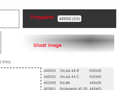 HTML5 blurry ghost image