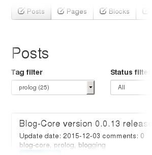 Blog-Core tag filter