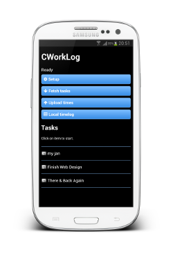 Screenshot of Contractor's Work Log Android App
